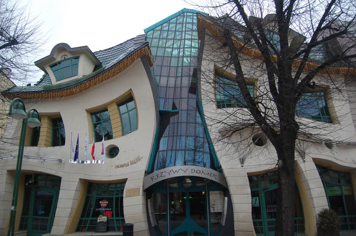 Krzywy Domek (The Crooked House) in Sopot, Poland