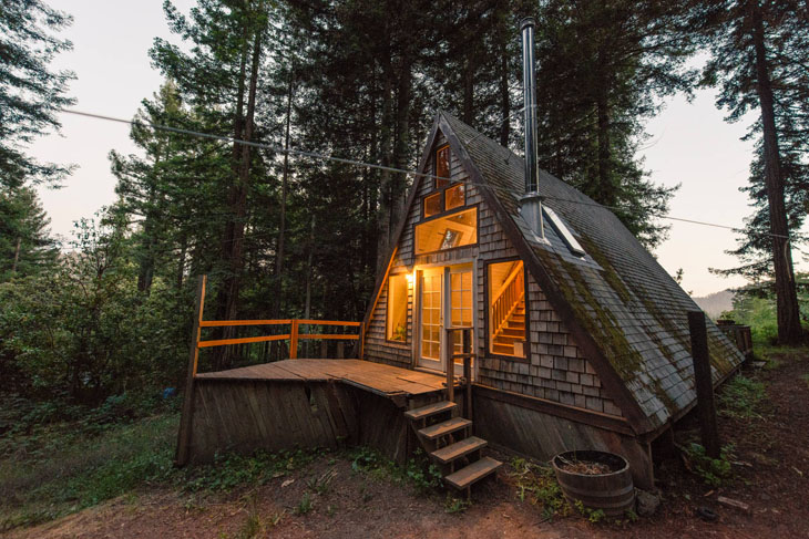 …for a cozy tiny house in the woods.