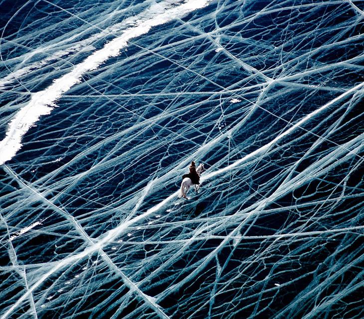 Ice Rider In Siberia, Russia
