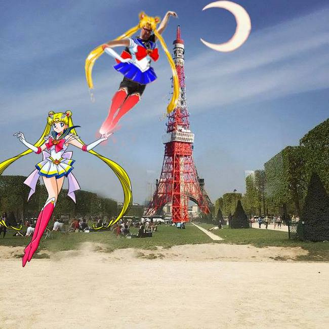 Sailor Moon came to his rescue.