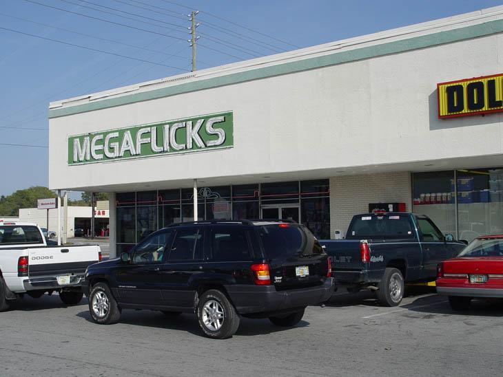 Megaflicks Store Sign