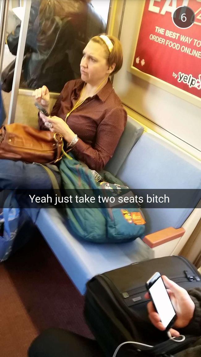 Passengers who take up two seats.