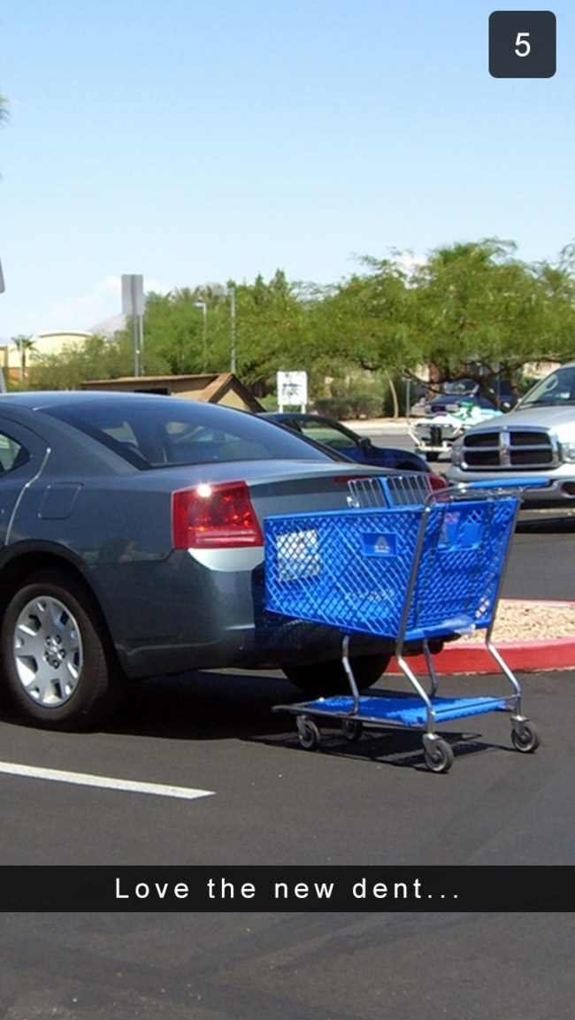The shoppers who just leave their carts wherever.
