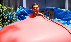 He Got Into A Giant Water Balloon. And Then? It's The Best Thing You've Seen All Day!