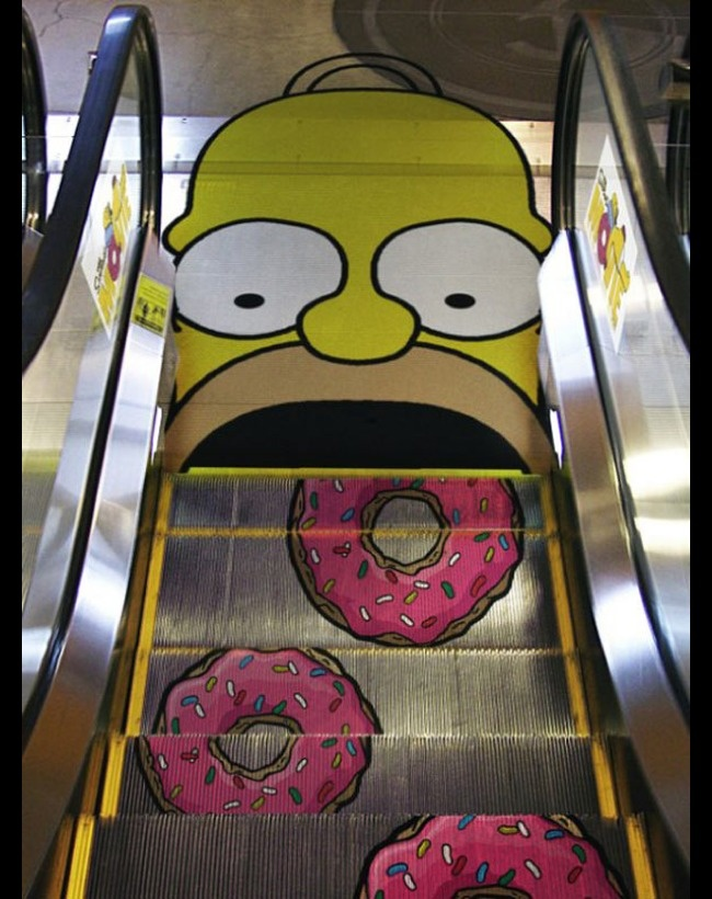Eating monster for promoting the Simpson's movie.