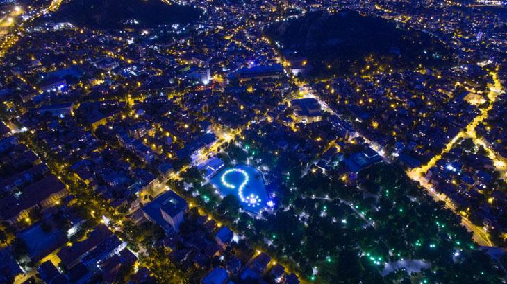 Plovidv by night, Bulgaria.