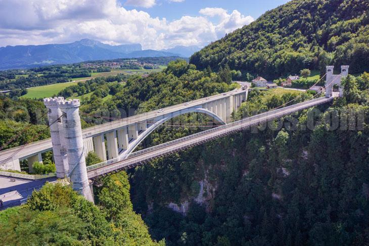 Pont de la Caille, Allonzier, haute-Savoie, France.