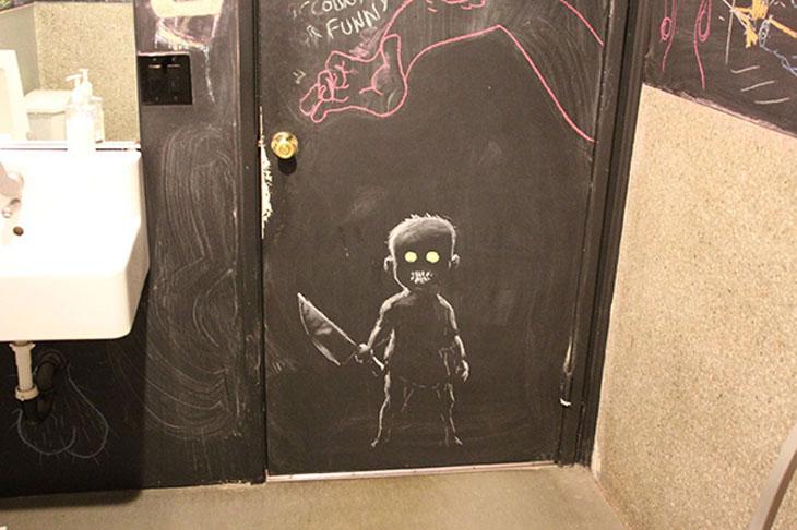 Bathroom Graffiti Masterpiece