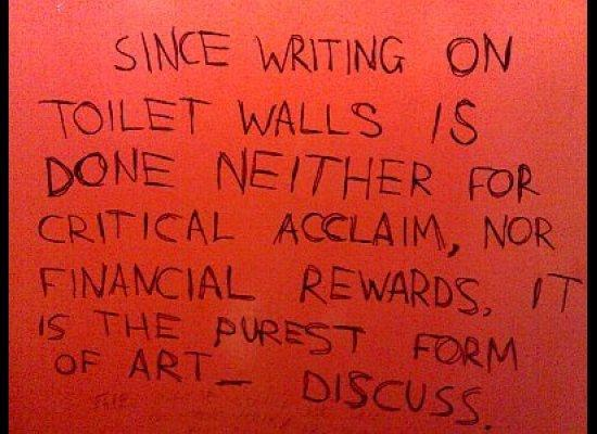 Bathroom Stall Snobbery