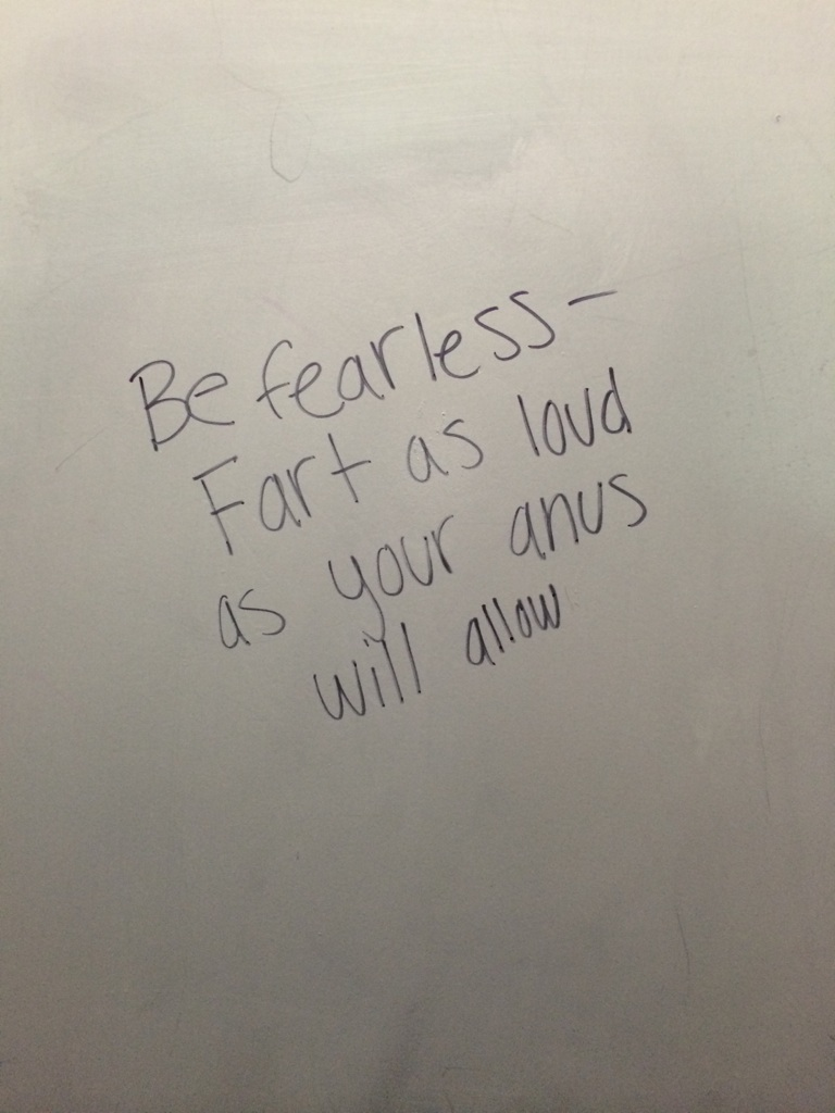 Bathroom stall graffiti