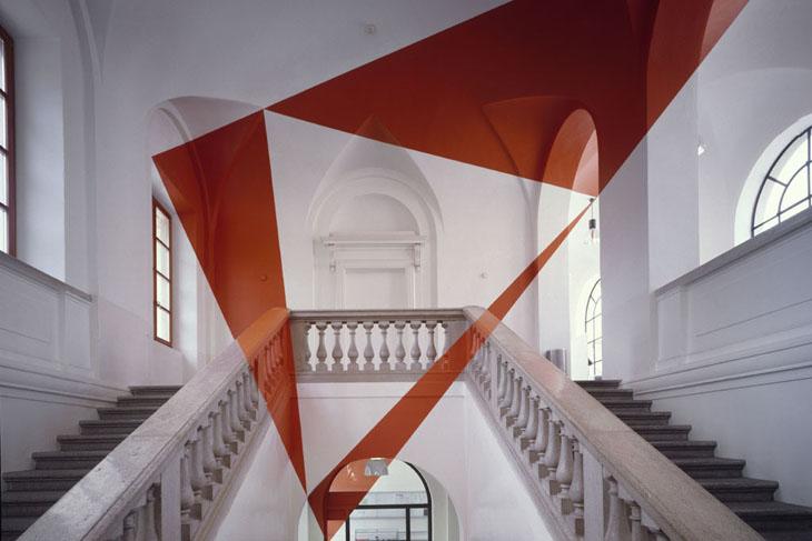 Optical illusion art by Felice Varini.