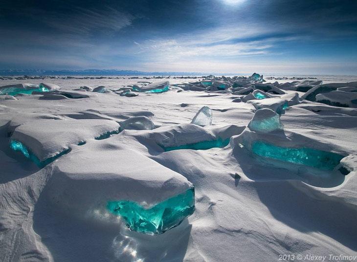 Lake Baikal in Eastern Siberia, Russia.