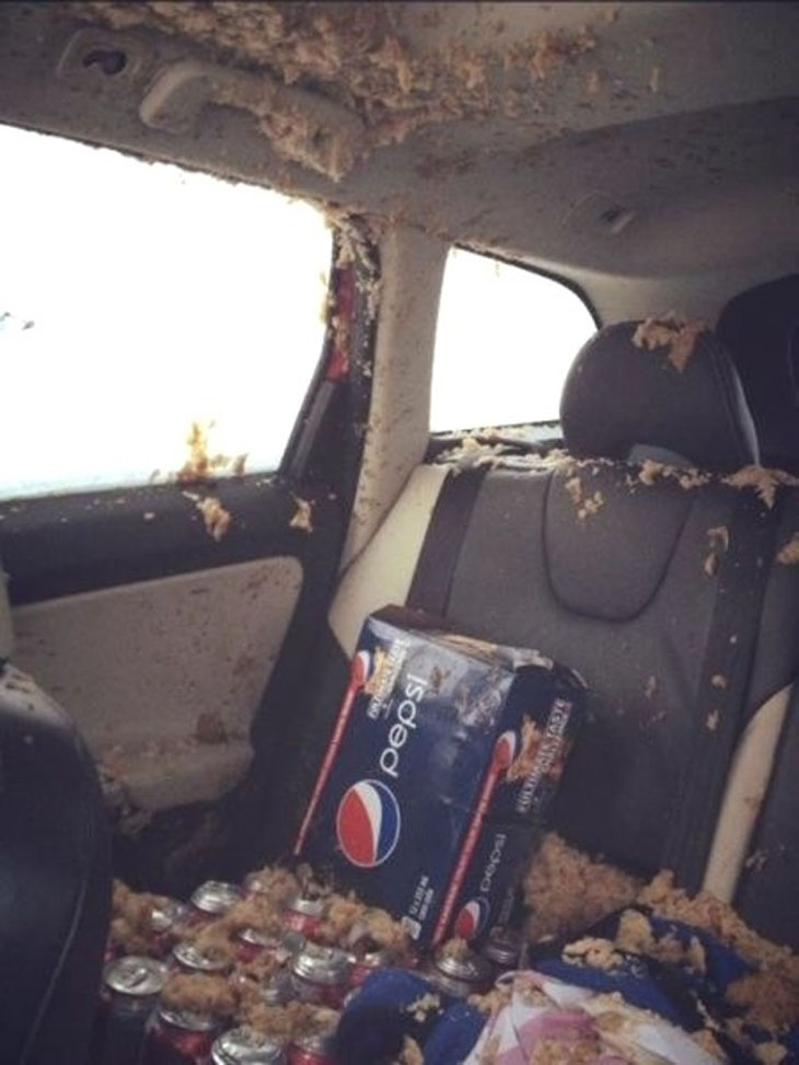 This person who was looking forward to a cold glass of Pepsi.