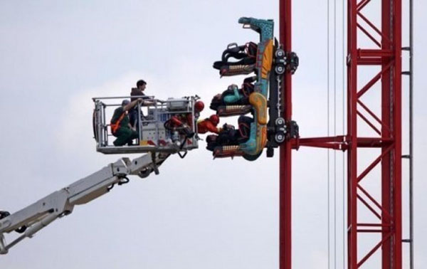 The people who got stuck on this ride at the worst possible moment.