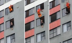 Watch This Hero Fireman Saving A Suicidal Woman Like A Pro! Now She Can Sue Him!
