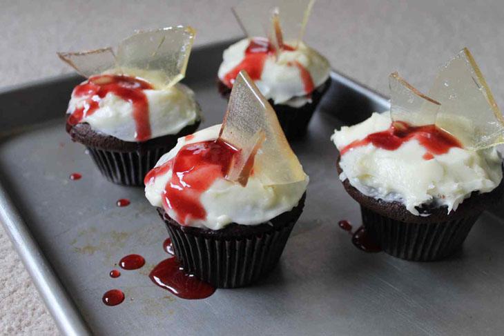 Broken Glass Cupcakes