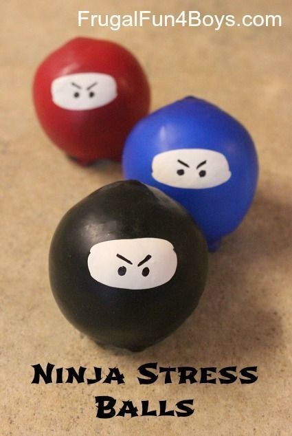 Fill some ninja stress balls.