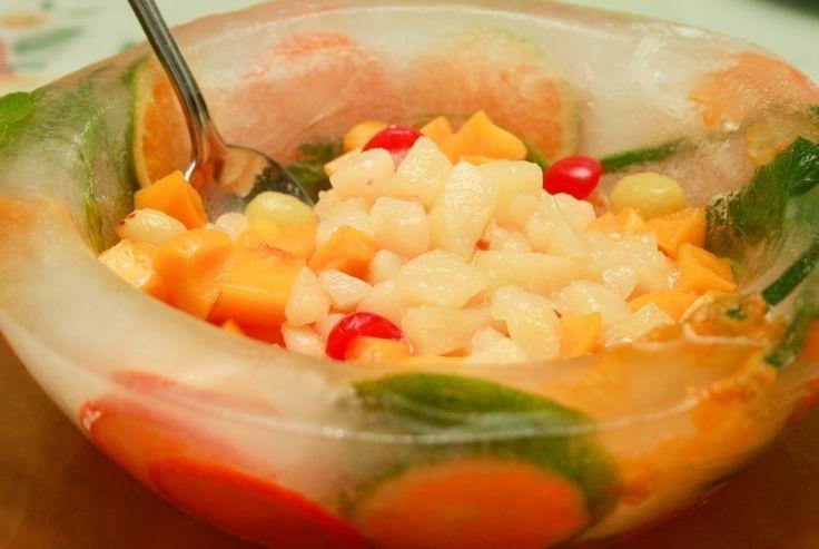 Make an ice bowl.