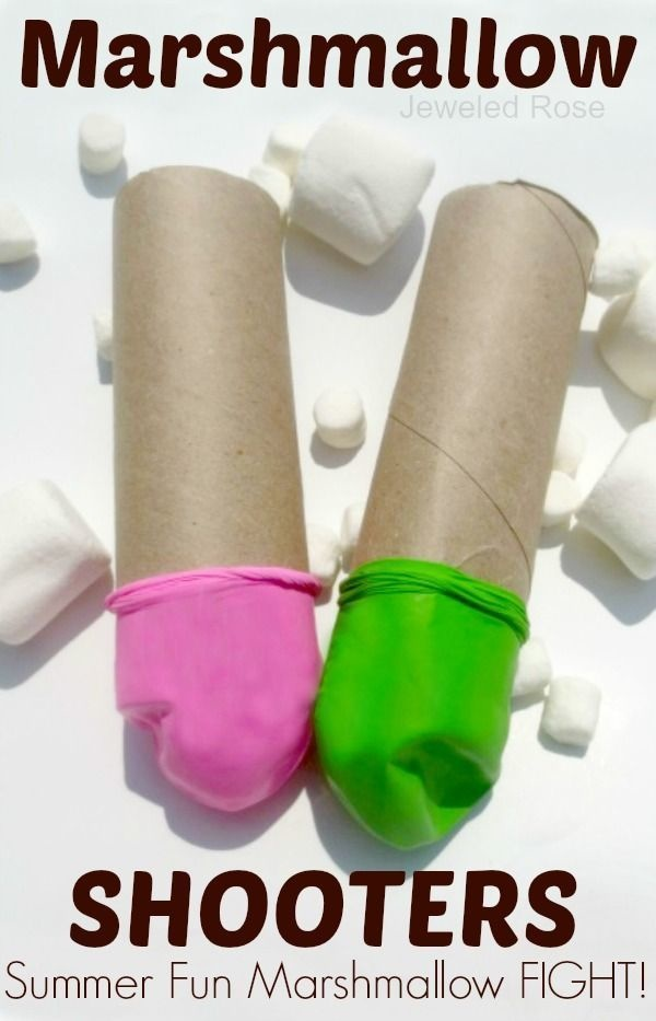 Use balloons to make marshmallow shooters.