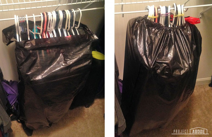 For moving, this is the best and easiest way to transport your clothes.