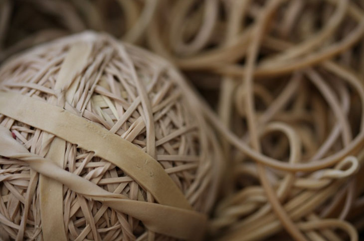 Use a rubber band in substitution of an eraser.