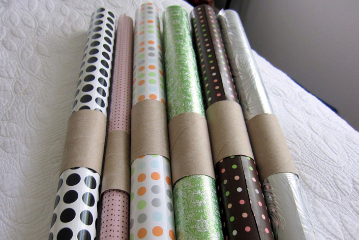 Use Toilet Paper Tubes For Well Wrangled Wrapping Paper