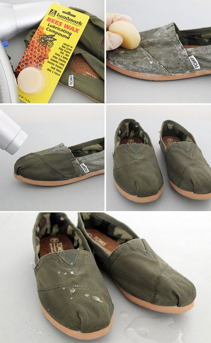 Turn your shoes waterproof.