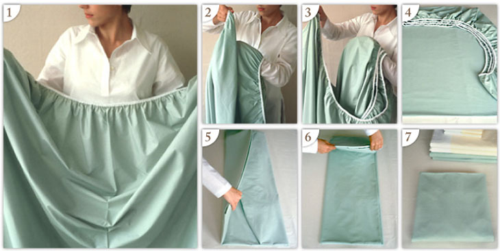 How to fold a fitted bed sheet.