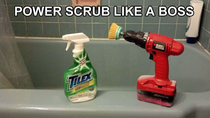 Power scrub trick.