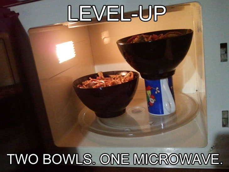 Not enough space in microwave? Try this!