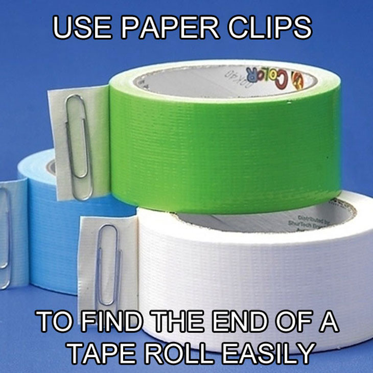 It is so easy to find the end of the tape roll now!