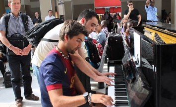He Was Playing Piano At The Train Station. He Had No Idea What's Coming Next!