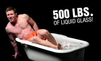 How Awesome Is To Bath In 500 Lbs Of Liquid Glass. Watch This!