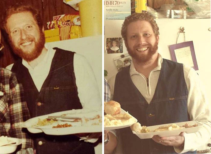 My Dad In 1978, Me In 2013