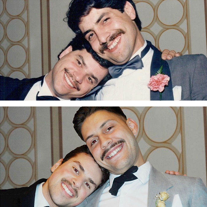 My Dad And His Friend 30 Years Ago Vs Me And His Son Today