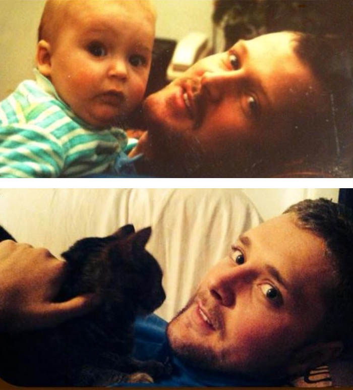 Just A Picture Of Me And My Dad. One Dated 1991 The Other 2013