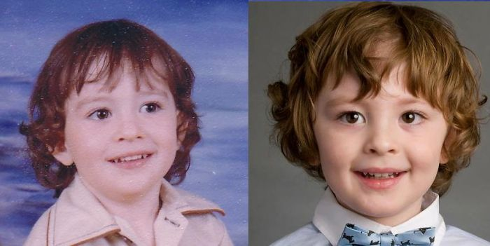 My Son (right) And Me (left) At 3.5 Years Old With 37 Between Photos