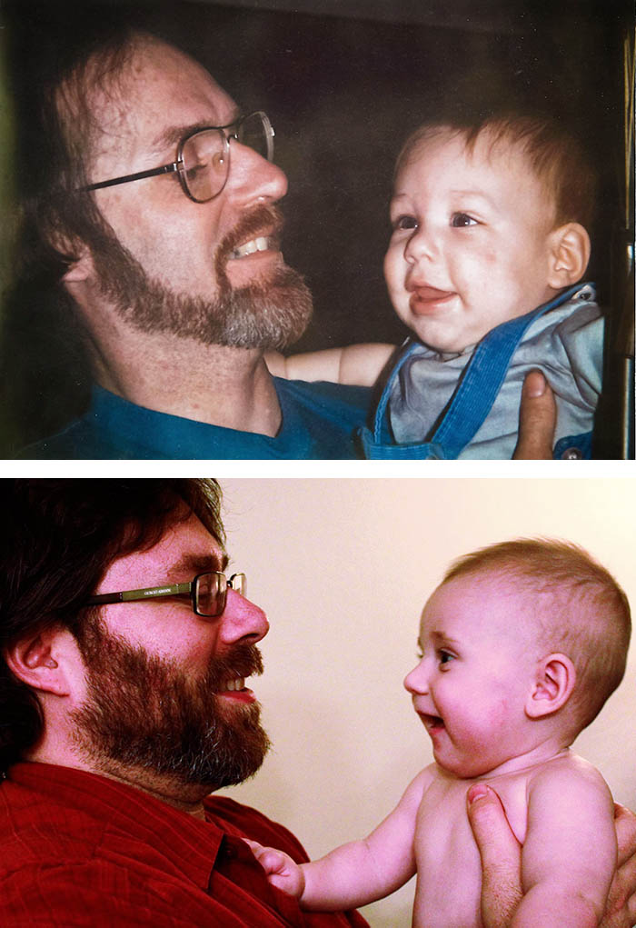 Dad And 7 Months Old Me, Me And My 7 Months Old Son.