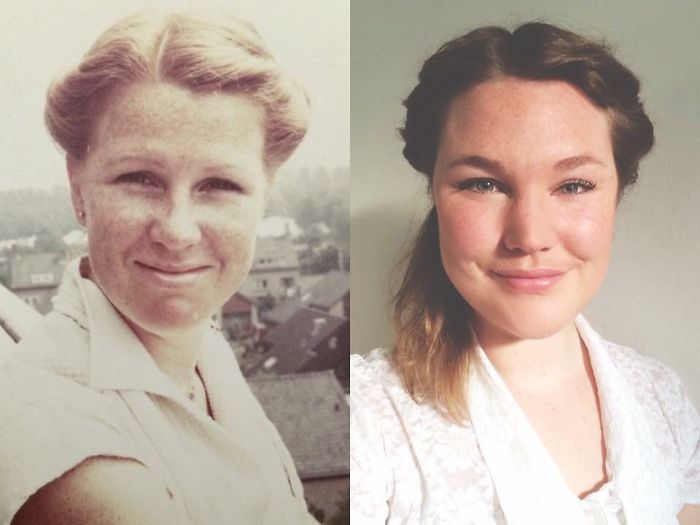 Mother And Daughter Both At Age 30