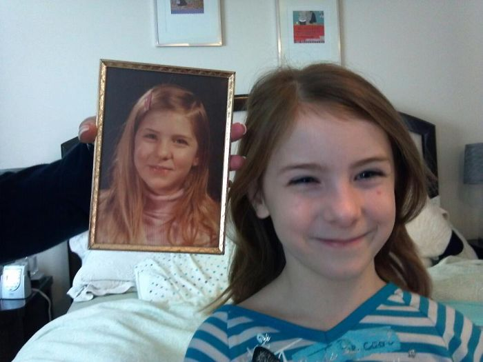 Just A Different Side Part... Me (in Pic) At 10, My Daughter At 10