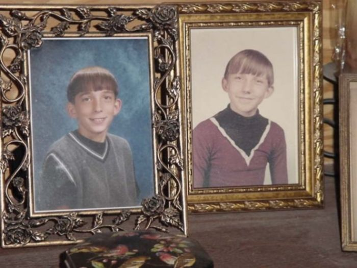 My Son And I, 30 Years Apart, Both 5h Or 6th Grade School Ictures