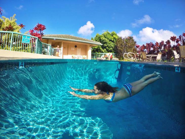 Underwater World In Swimming pool