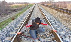 He Wants To Charge His Phone So He Put His Phone Between Train Track. And Then? OMG!