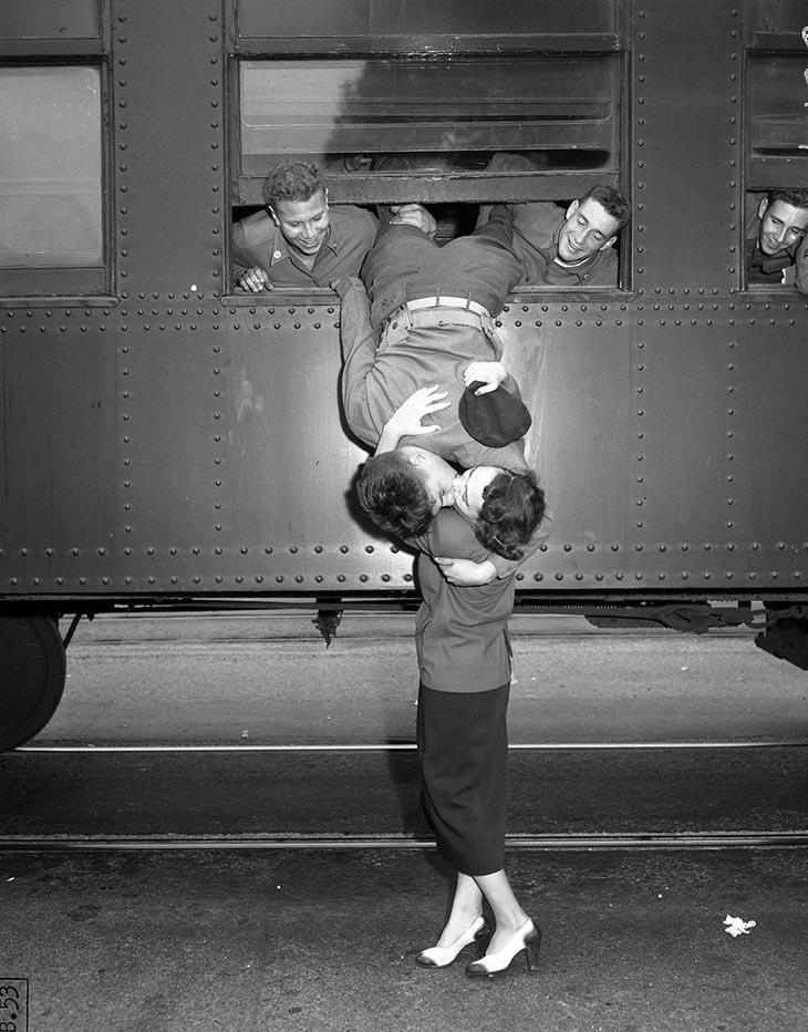 Korean War Goodbye Kiss, Los Angeles, Sept. 6, 1950