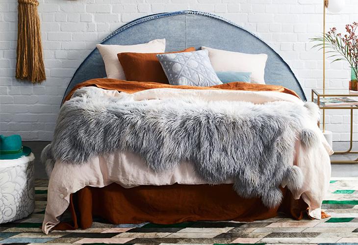 Furry throw blankets